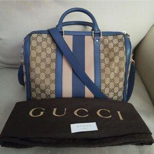 NWOT Authentic Vintage Gucci Boston Satchel